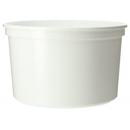 Contenitore rotondo bianca in plastica 500cc (50 Unità)