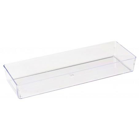 Vassoio di Plastica Rettangolare Trasp. 4,6x13cm (50 Pezzi)