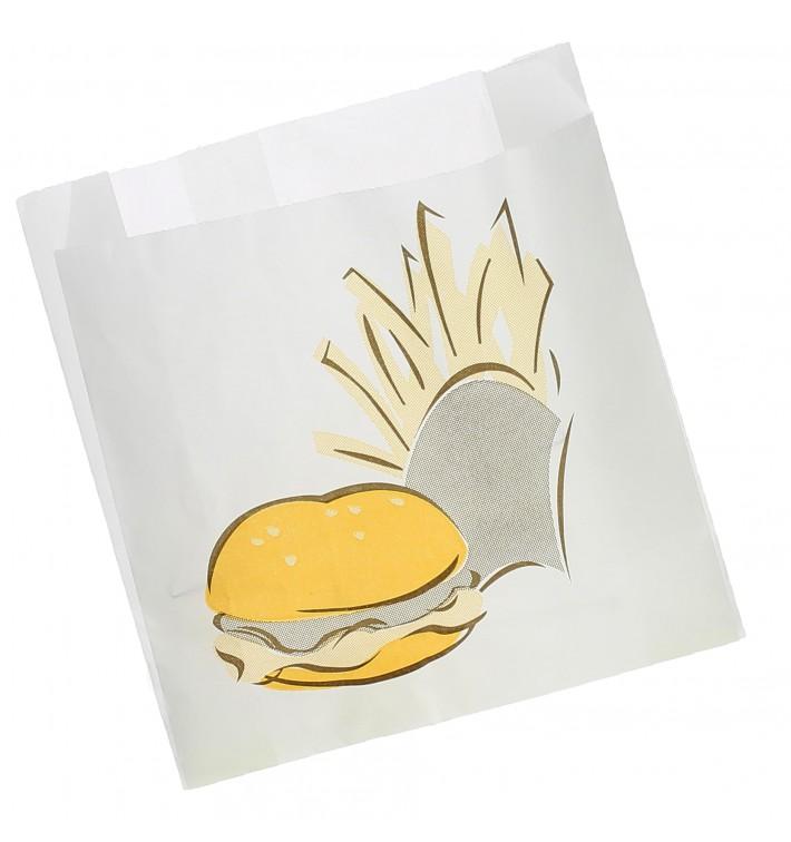 Sacchetto per Hamburger Antigrasso  15+5x16  (100 Pezzi)