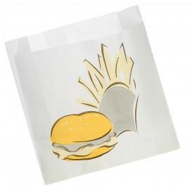 Sacchetto per Hamburger Antigrasso  15+5x16cm (1000 Pezzi)