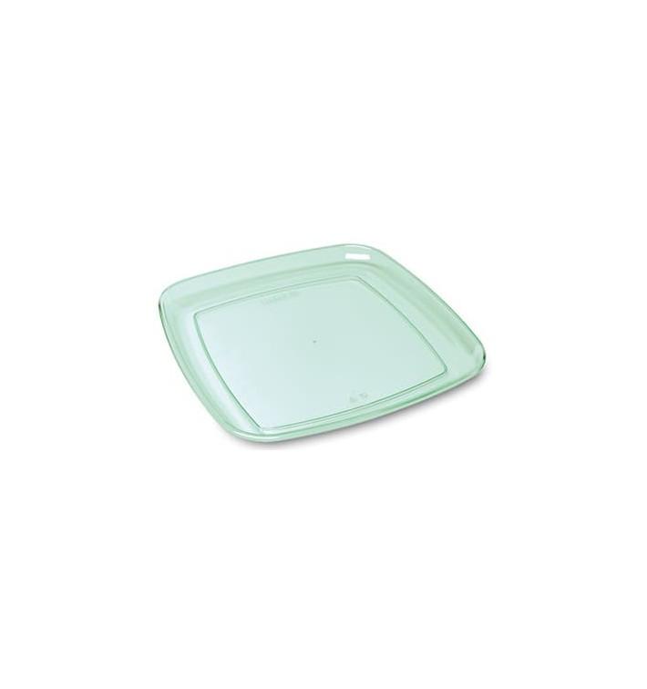 Vassoio Quadrato Rigido Trasparente 35x35cm (5 Pezzi)
