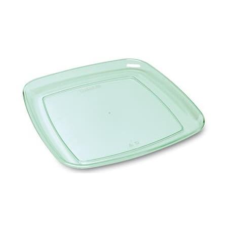 """Vassoio Quadrato Rigido  """"Water Green"""" 35x35cm (5 Pezzi)"""