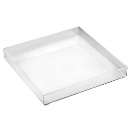 Vassoio di Plastica Tray Trasparente 30x30cm (1 Pezzi)