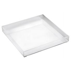 Vassoio Plastica Tray Trasparente Ø32cm (9 Pezzi)