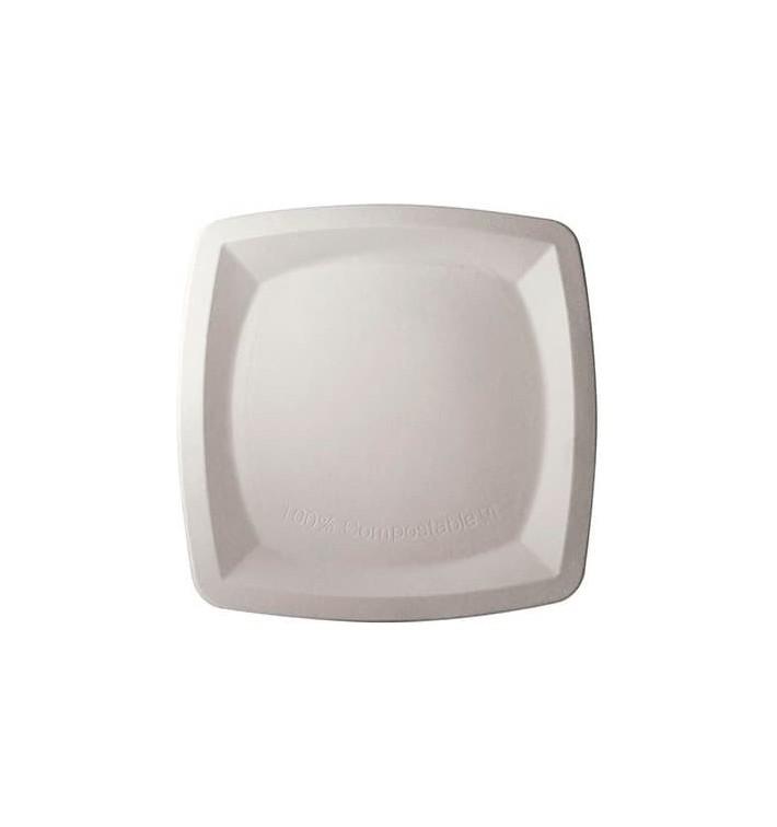Piatto Quadrato Bianco Canna Zucchero 20x20cm (1000 Pezzi