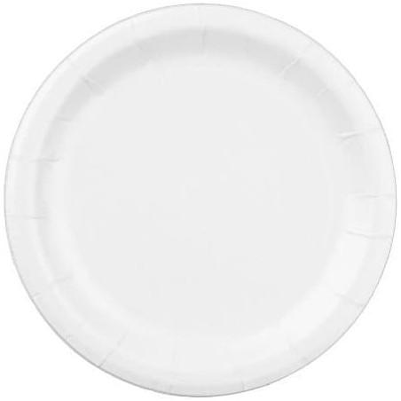 Piatto in Cellulosa Bianco 22 cm (100 Pezzi)