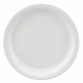Piatto di Carta Tondo Bianco 180 mm 500g/m2 (100 Pezzi)