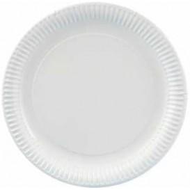 Piatto di Carta Tondo Bianco 210 mm (100 Pezzi)