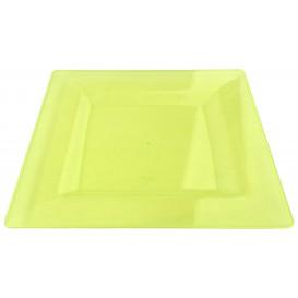Piatto Plastica Rigida Quadrato Verde 20x20cm (88 Pezzi)