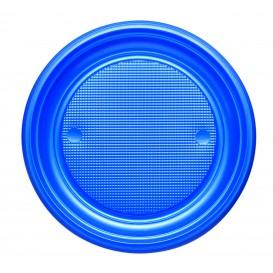 Piatto di Plastica PS Piano Blu Scuro Ø170mm (1100 Pezzi)