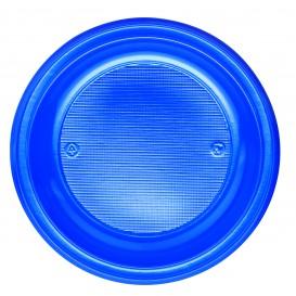 Piatto di Plastica PS Piano Blu Scuro Ø220mm (780 Pezzi)