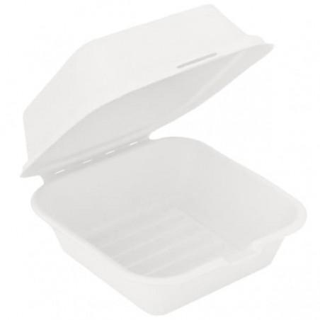 Contenitori Canna da Zucchero Bianco 152x152x84mm (600 Uds)
