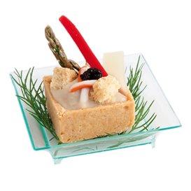 Salsera Degustazione Salsa Verde Trasp. 6,5x6,5x1,5 cm (30 Pezzi)