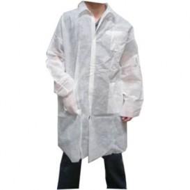 Camice TNT PP Con Velcro Con Tasche Bianco XL (100 Pezzi)