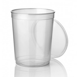Contenitore trasparente in plastica 1000ml Ø11,5cm (250 Pezzi)