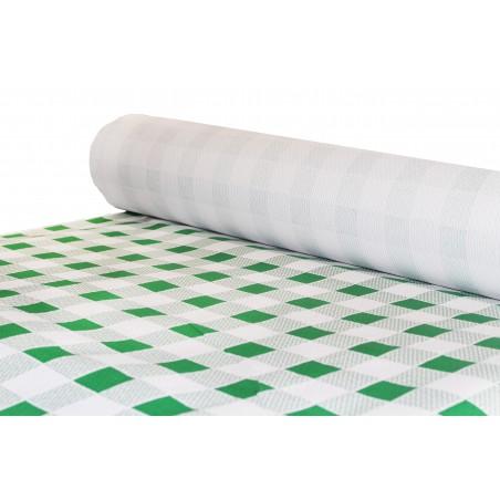 Tovaglia di Carta Rotolo Quadro Verde 1x100m. 40g (6 Pezzi)