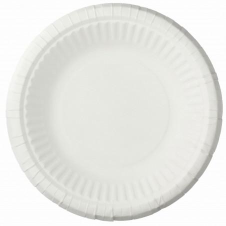 Piatto in Cellulosa Fondo Bianco Ø19 cm (50 Pezzi)