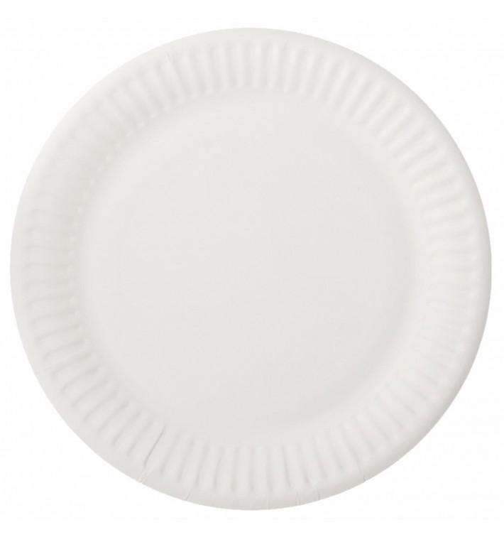 Piatto in Cellulosa Bianco Ø15 cm (100 Pezzi)