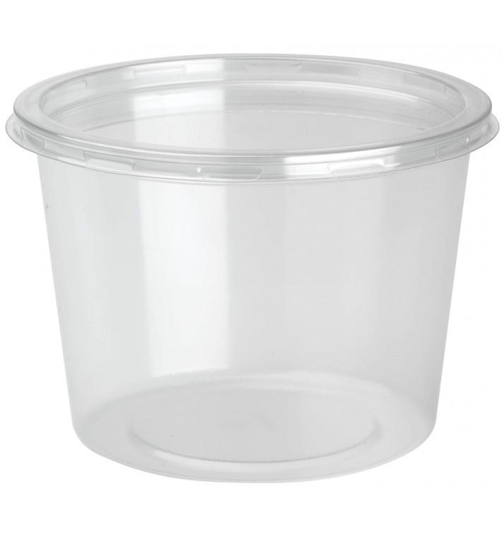 Contenitore di Plastica rPET DeliLite con Coperchio 24,6 Oz/700mll (50 Pezzi)