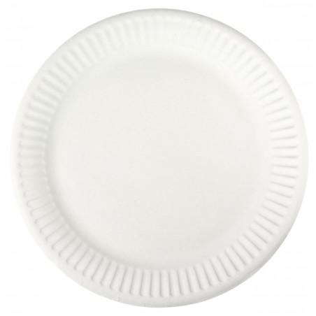 Piatto in Cellulosa Bianco Ø18,5 cm (100 Pezzi)