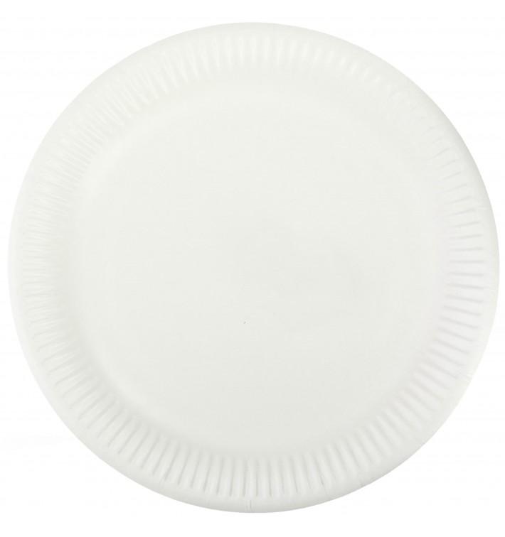 Piatto in Cellulosa Bianco Ø23 cm (50 Pezzi)