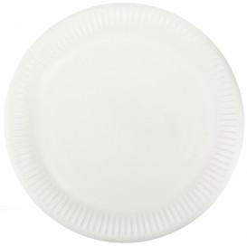 Piatto in Cellulosa Bianco Ø23 cm (1000 Pezzi)