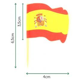 """Spiedi in Legno Bandiera """"Espagne"""" (14.400 Pezzi)"""