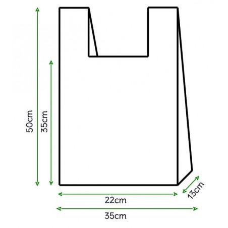 Sacchetto di Plastica Canottiera 35x50cm Bianca (200 Pezzi)