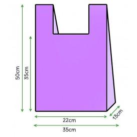 Sacchetto di Plastica Canottiera 35x50cm Lilla (5000 Pezzi)