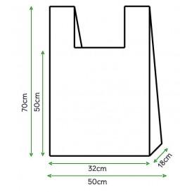 Sacchetto di Plastica Canottiera 50x70cm Bianca (200 Pezzi)