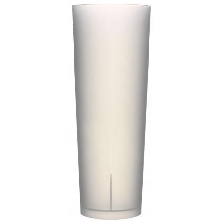 Bicchiere Tubo Riutilizzabile PP Traslucido 330ml (10 Pezzi)