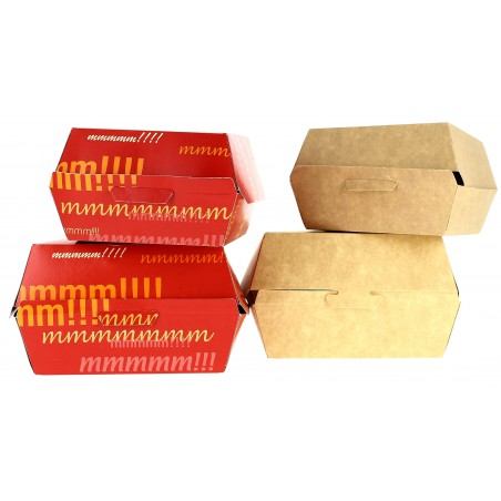 Scatola Hamburger XXL14,5x14,5x8 cm (400 Pezzi)