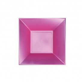 Piatto Plastica Fondo Rosato Pearl Nice PP 180mm (25 Pezzi)