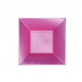 Piatto Plastica Fondo Rosato Pearl Nice PP 180mm (300 Pezzi)