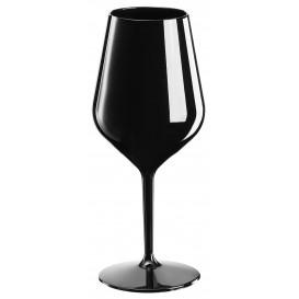 Calice Riutilizzabili da Vino Tritan Nero 470ml (6 Pezzi)