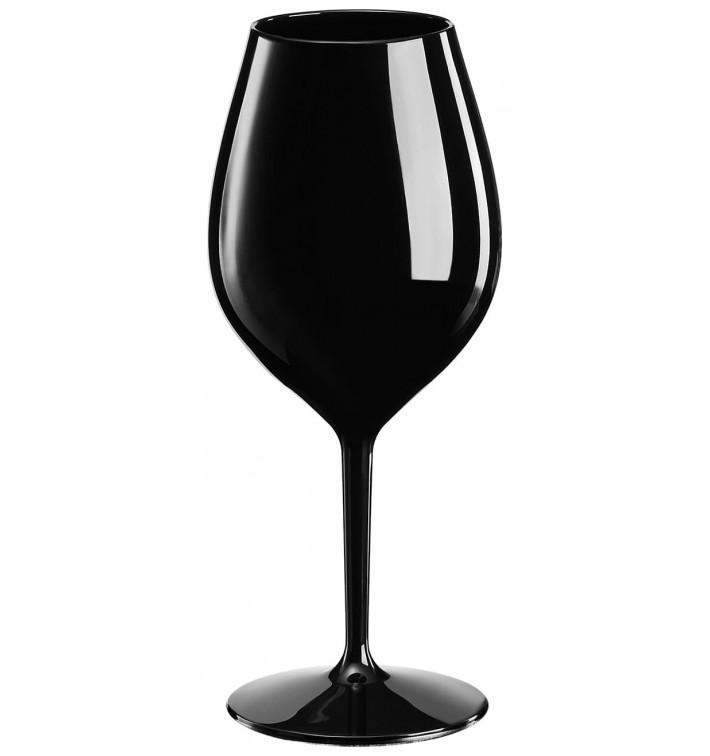 Calice Riutilizzabili da Vino Tritan Nero 510ml (6 Pezzi)