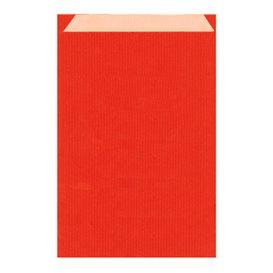 Sacchetto di Carta Kraft Rosso 26+9x38cm (125 Pezzi)