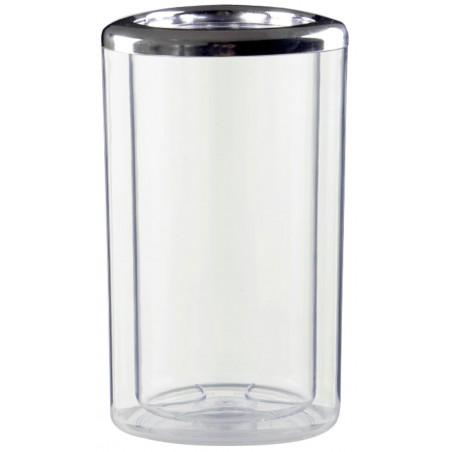 Secchio di Plastica per 1 Bottiglia Trasp. PS (1 Pezzi)