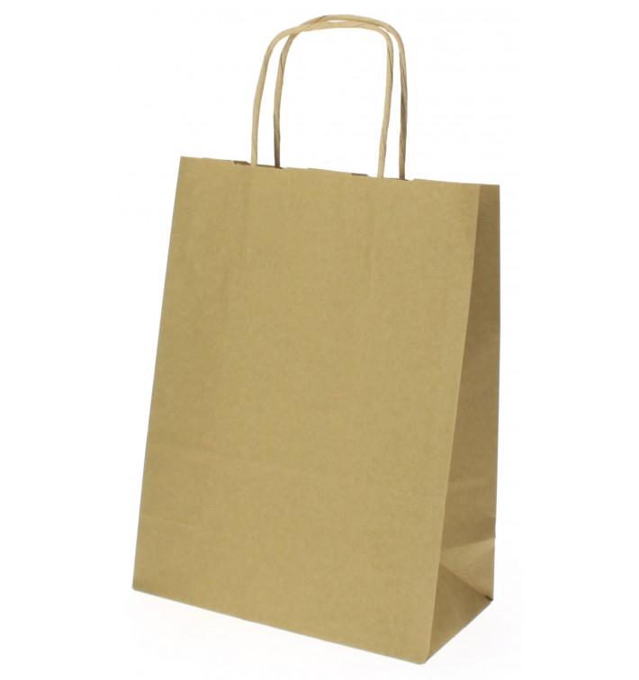 Buste Shopper in Carta Hawanna 100g 18+8x24 cm (50 Pezzi)