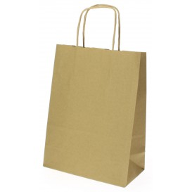 Buste Shopper in Carta Hawanna 100g 18+8x24 cm (400 Pezzi)