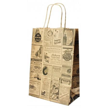 Buste Shopper in Carta Times 80g 20+10x29cm (50 Pezzi)