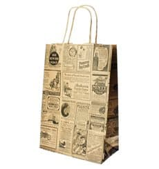 Buste Shopper in Carta Times 80g 20+10x29 cm (250 Pezzi)