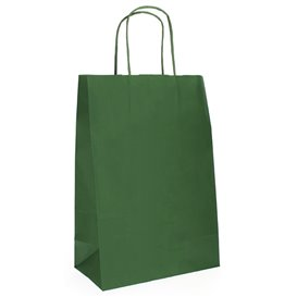 Buste Shopper in Carta Verde 80g 20+10x29 cm (50 Pezzi)
