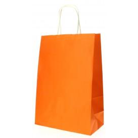 Buste Shopper in Carta Arancione 80g 20+10x29 cm (200 Pezzi)