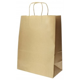 Buste Shopper in Carta 100g 24+12x31 cm (250 Pezzi)