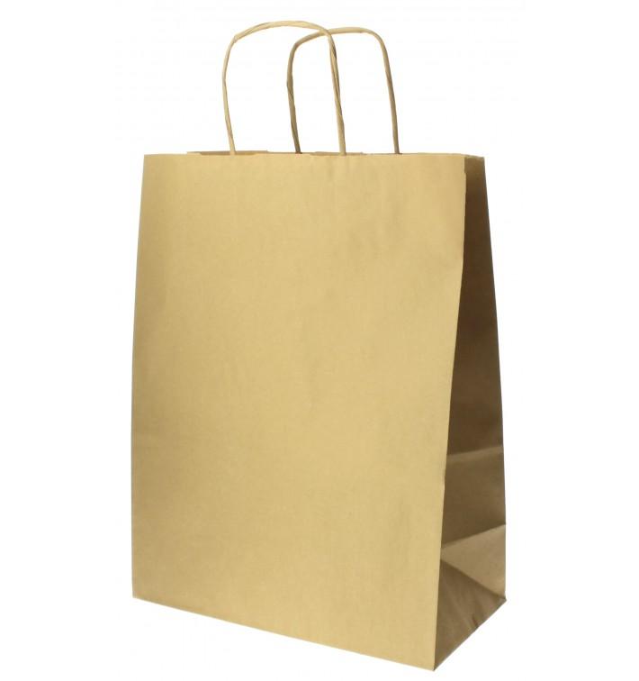 Buste Shopper in Carta Hawanna 100g 24+12x31 cm (50 Pezzi)
