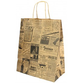 Buste Shopper in Carta Kraft Times 80g 24+14x32cm (50 Pezzi)