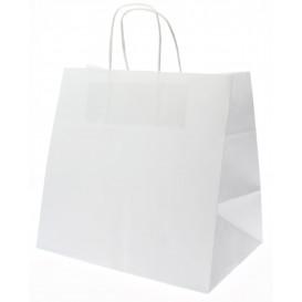 Buste Shopper in Carta Bianca 80g 26+17x24 cm (50 Pezzi)