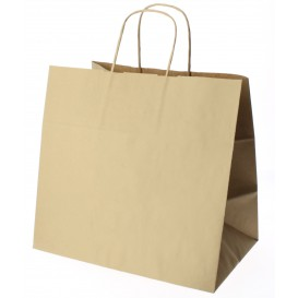 Buste Shopper in Carta Marrone 80g 26+17x24 cm (50 Pezzi)