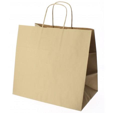 Buste Shopper in Carta Marrone 80g 26+17x24 cm (50 Pezzi)